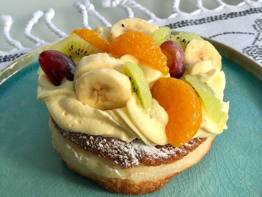 Vanillekrapfen mit Früchte ❤️