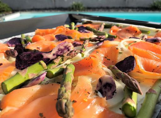 Spargel - Lachs Symbiose! Ein schnelles, kreatives Dinner für Zuhause!