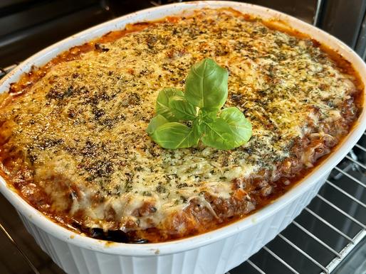 Melanzani-Lasagne (low carb, glutenfrei)