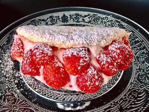 Erdbeeren-Omelette