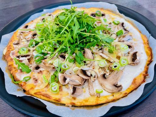 Low Carb: Käse-Champignon-Rucola-Pizza ❤️