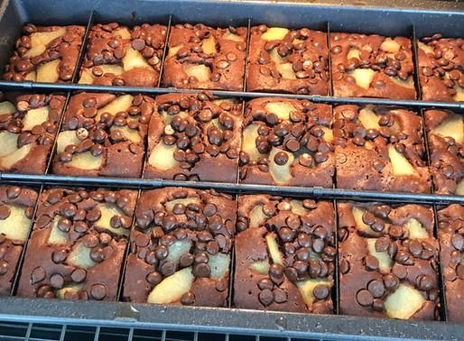 Schoko-Birnen-Brownies