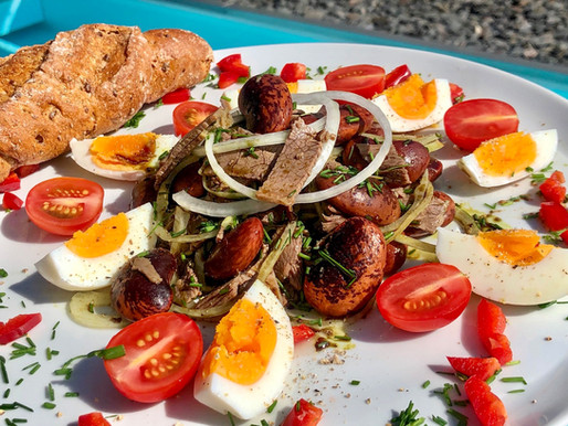 Steirischer Rindfleisch-Salat mit Käferbohnen & Kürbiskernöl