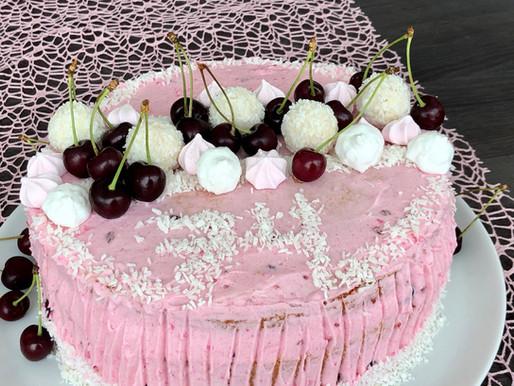 Kirschen-Raffaello-Torte