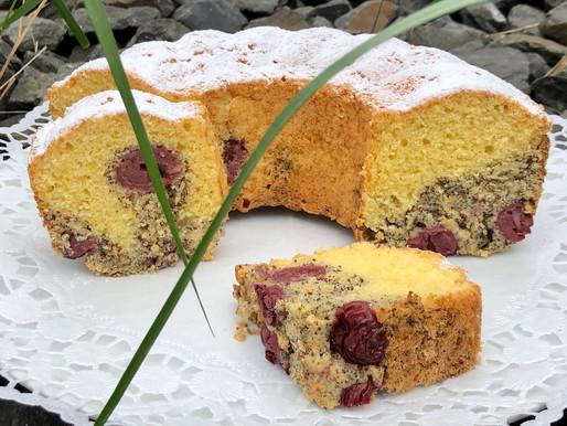 Kirschen-Mohn-Kuchen