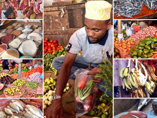 Am Markt in Stonetown🥒🍆🥦🌽🍅 🍍