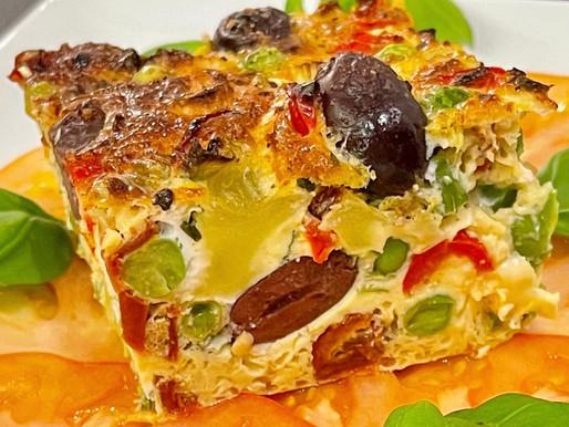 Frittata auf Tomaten-Carpaccio
