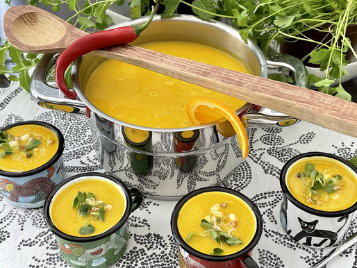 Pastinaken-Orangen-Ingwer Suppe