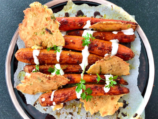 Tandoori Karotten mit Roti