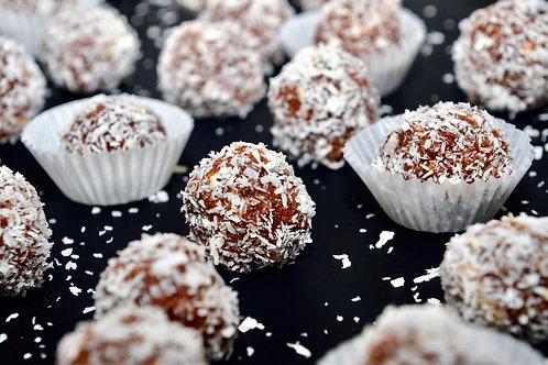 Kokos-Schokolade-Rum Kugeln