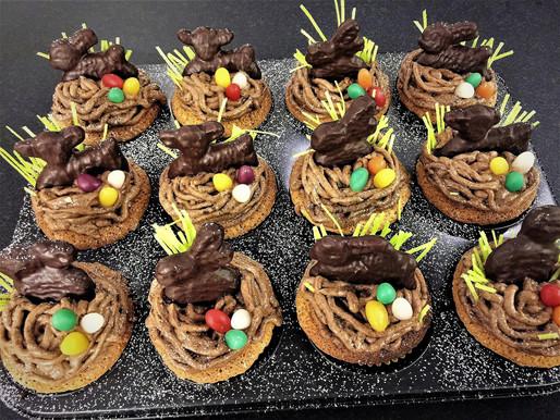 Osterhasen Muffins! Dinkel - Mandel - Kaffee - Baileys - Schokolade ❤️