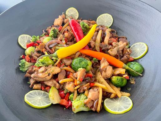 Wok mit Austernpilze und viel Gemüse ❤️