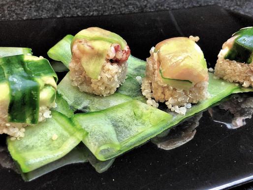 Quinoa - Avocado - Flusskrebse - Räucherlachs - Gurke ... ein außergewöhnliches Highlight zuhause!