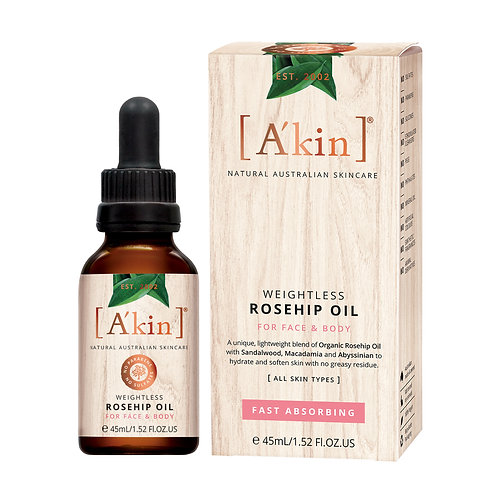 [A'kin] Weightless Rosehip Oil For Face And Body- 45ml