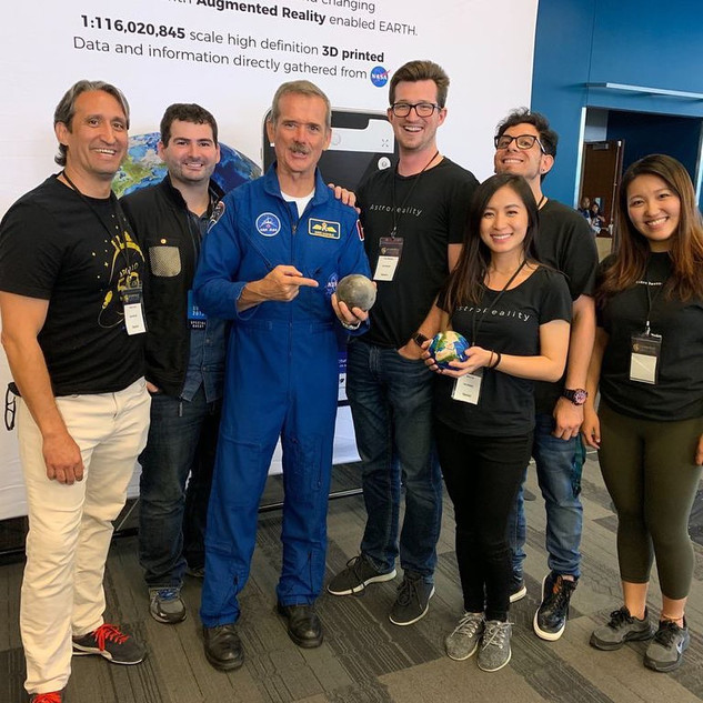 AstroReality Team with Canadian Astronaut Chris Hadfield