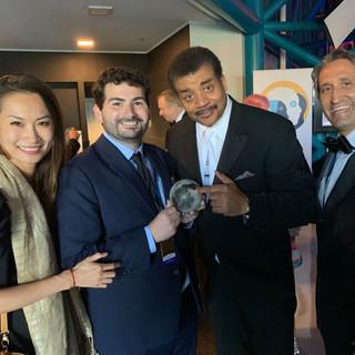 AstroReality Team at the Apollo 50th Gala with Neil deGrasse Tyson