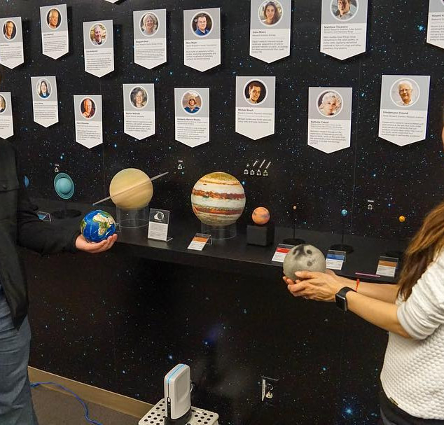 AstroReality made Solar System Scale Model at the SETI Institute.