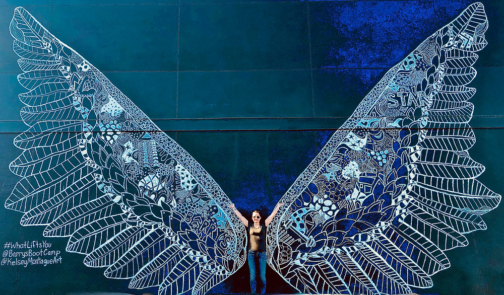 embracing my wings ...