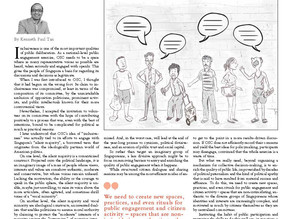 Wrote a reflection piece in the Our Singapore Conversation publication, August 2013