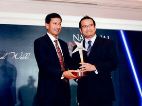 Received NVPC award on behalf of the Asian Film Archive, 11 November 2007
