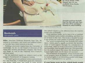 Profiled and interviewed in The Straits Times, 1 July 2012