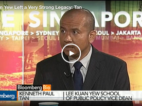 Interviewed about Lee Kuan Yew's legacy, on Bloomberg TV, 23 March 2015