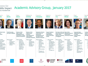 Joined the Centre for Public Impact's Academic Advisory Group, 1 January 2017