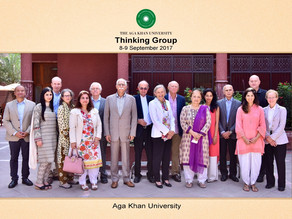 Joined the Aga Khan University's Global Thinking Group to establish a new school, 8 September 2017
