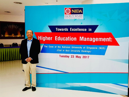 Gave lectures to higher education leaders in Thailand, on 23 May 2017