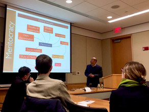Gave a lecture on Singapore politics to students at Harvard University, 21 April 2017
