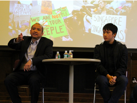 Lectured on Singapore's political liberalization at Tufts University, 21 October 2014
