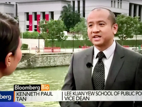 Interviewed about Singapore's General Elections in 2011, for Bloomberg TV, 14 September 2011