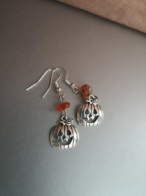 Pumpkin Carnelian Earrings