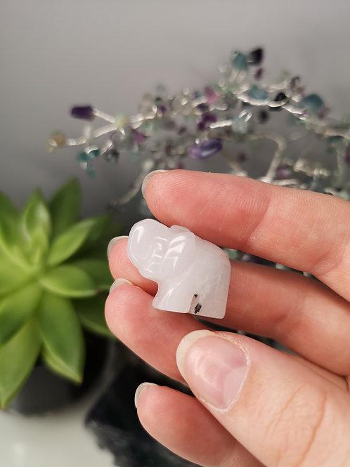 Snow Quartz Elephant