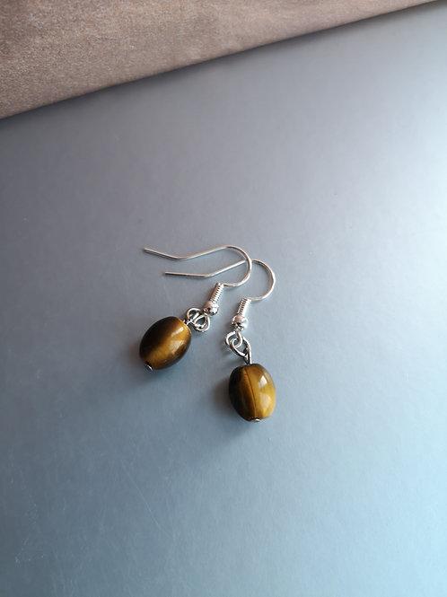 Tigers eye earrings silver