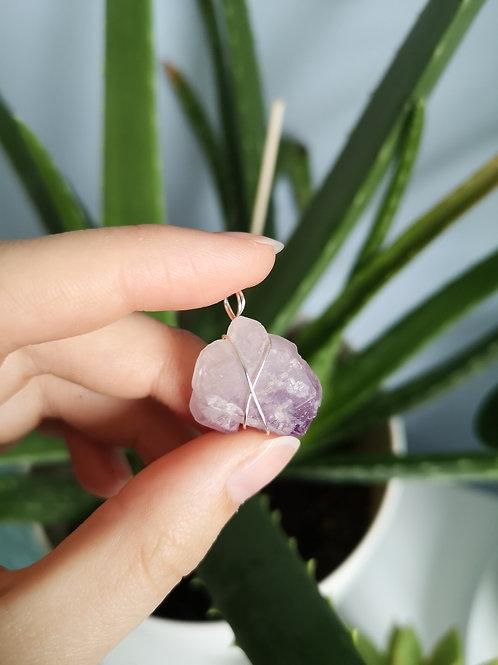 Amethyst Flower Silver