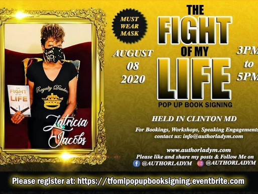 Book signing tour for The Fight Of My Life, Saturday, Aug 8th @ 3pm to 5pm
