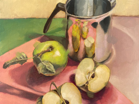 2nd Apple & Silver Jug painting