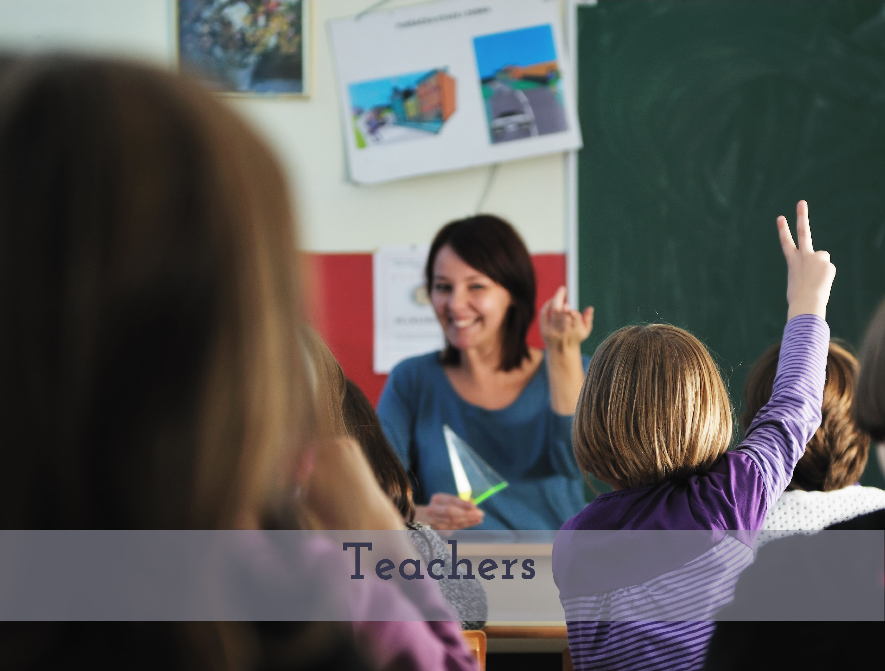British teacher teaching class