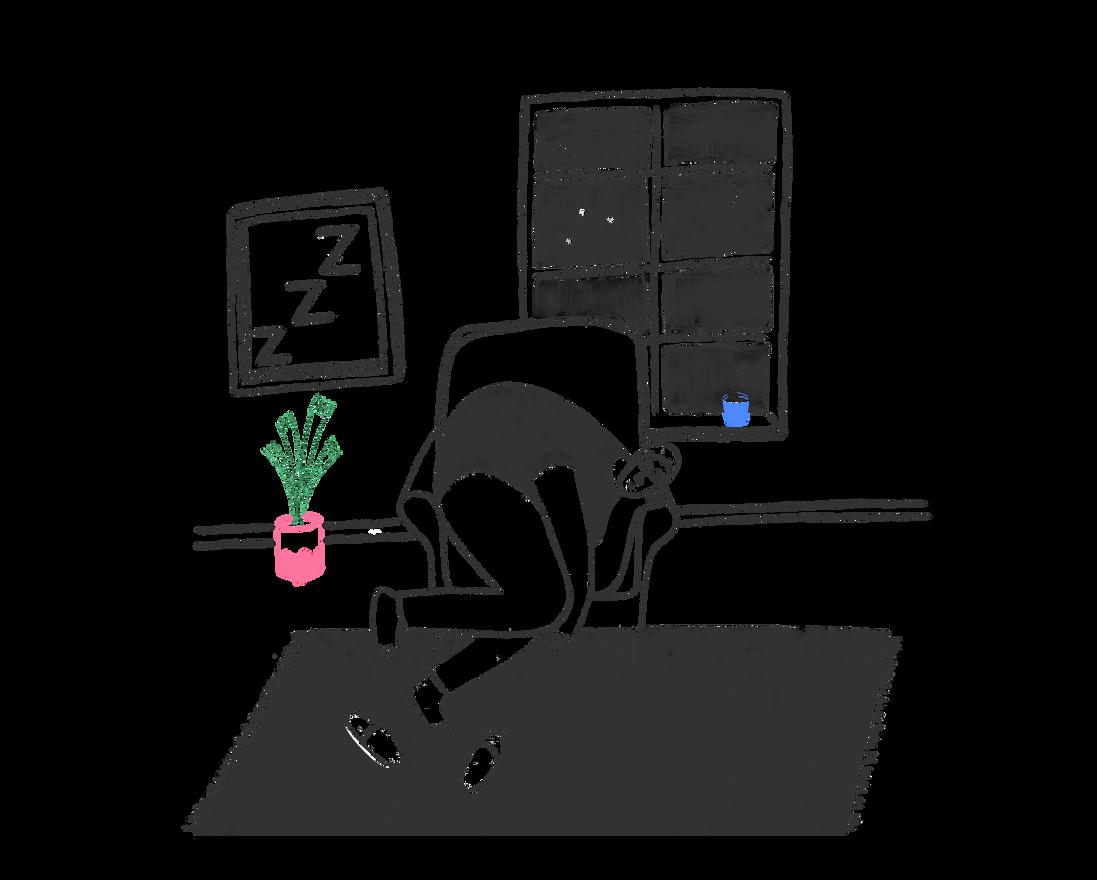 Sleeping - book illustration