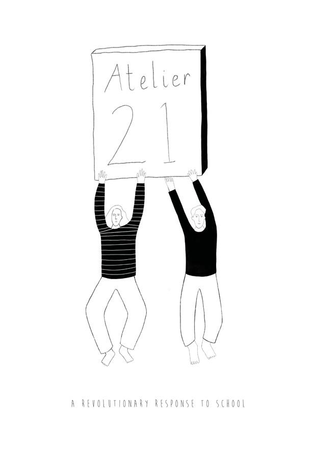 Atelier 21 logo mock up 3