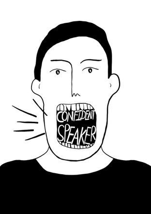 confident speaker