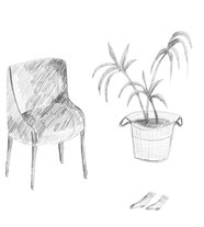 chair,-socks-and-plant