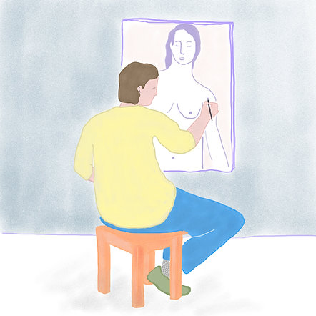 painting naked-lady
