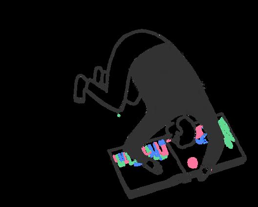Reading - book illustration