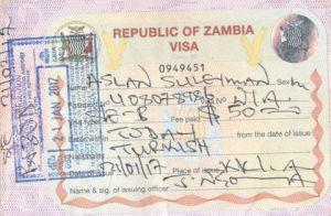 Zambiya vizesi