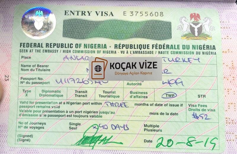 Nijerya TWP Vizesi