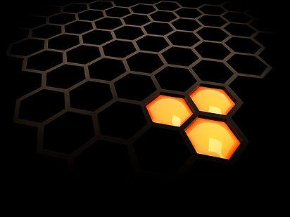 bigstock-2-Black-Tech-Honeycomb-3997836_