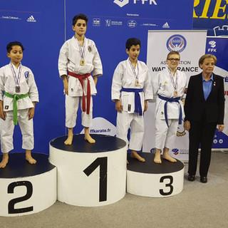 Medaille de Bronze Antoine GOURDON du KC Nozay en Kata Minime