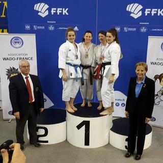 Médaille d'ARGENT :  - Leslie FOY du KC Nozay en Kata Senior et en Combat Senior +68kg